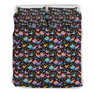 Colorful Chickens Pattern Bedding Set