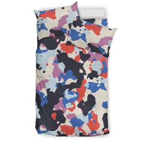 Camouflage Colorful Camo Urban Bedding Set