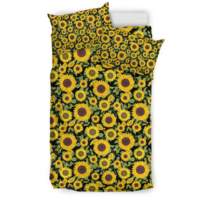 Floral Sunflowers Pattern Bedding Set