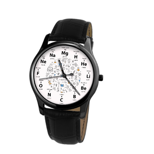 Periodic 30 Meters Waterproof Quartz Leisure Watch With Black Genuine Leather