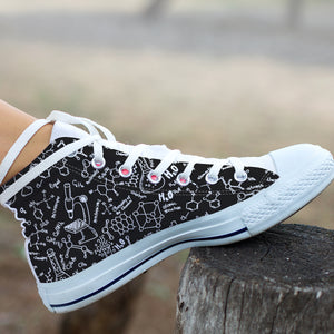 Chemistry High Top Canvas Shoes