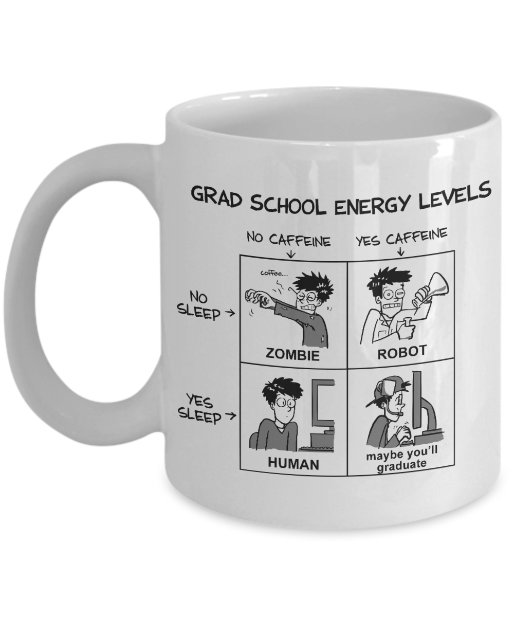 Grad School Energy Levels Mug