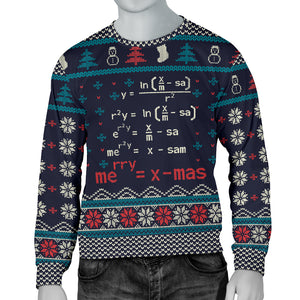 Ugly Mathematics Merry X'Mas Formula Men's Sweatshirt