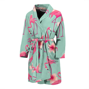 Pink Flamingo Men's Bath Robe