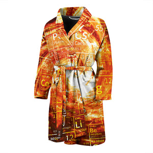 Periodic Table Chemistry Galaxy Men's Bath Robe