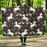 Baby Unicorns Rainbow Hooded Blanket