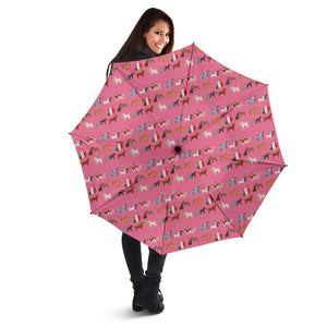 Pink Irish Dog Breeds Umbrellas