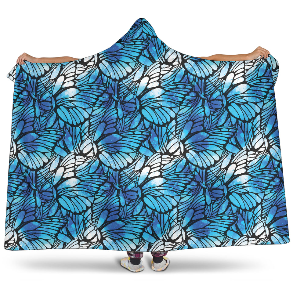 Flying Butterfly Wings Hooded Blanket