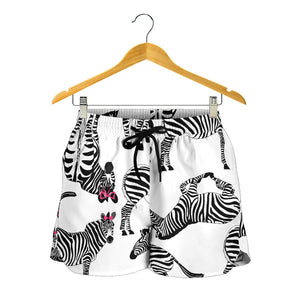 Cute Zebras Consisting Women's Shorts