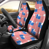 American Flag Cross Over Car Seat Covers