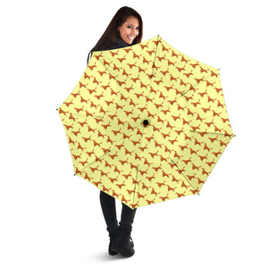 Yellow Cute Irish Red Setter Umbrellas