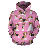 Cute Beagles On Pink Hoodie