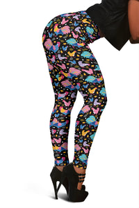 Colorful Chickens Pattern Women's Leggings