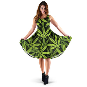 Cannabis Marijuana Weed Floral Dress