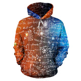 Math Galaxy All Over Hoodie