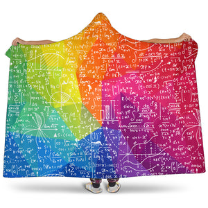 Mathematics Colorful Hooded Blanket