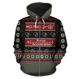 Mathematics Merry X'Mas Zip-Up Hoodie
