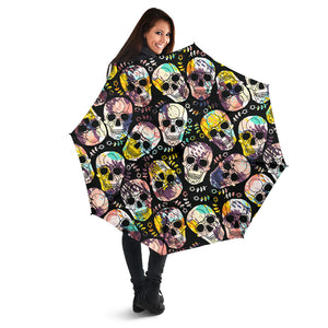 Skulls Grunge Ornament Umbrellas