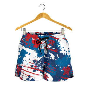 Abstract Patriotic Amarican Flag Women's Shorts