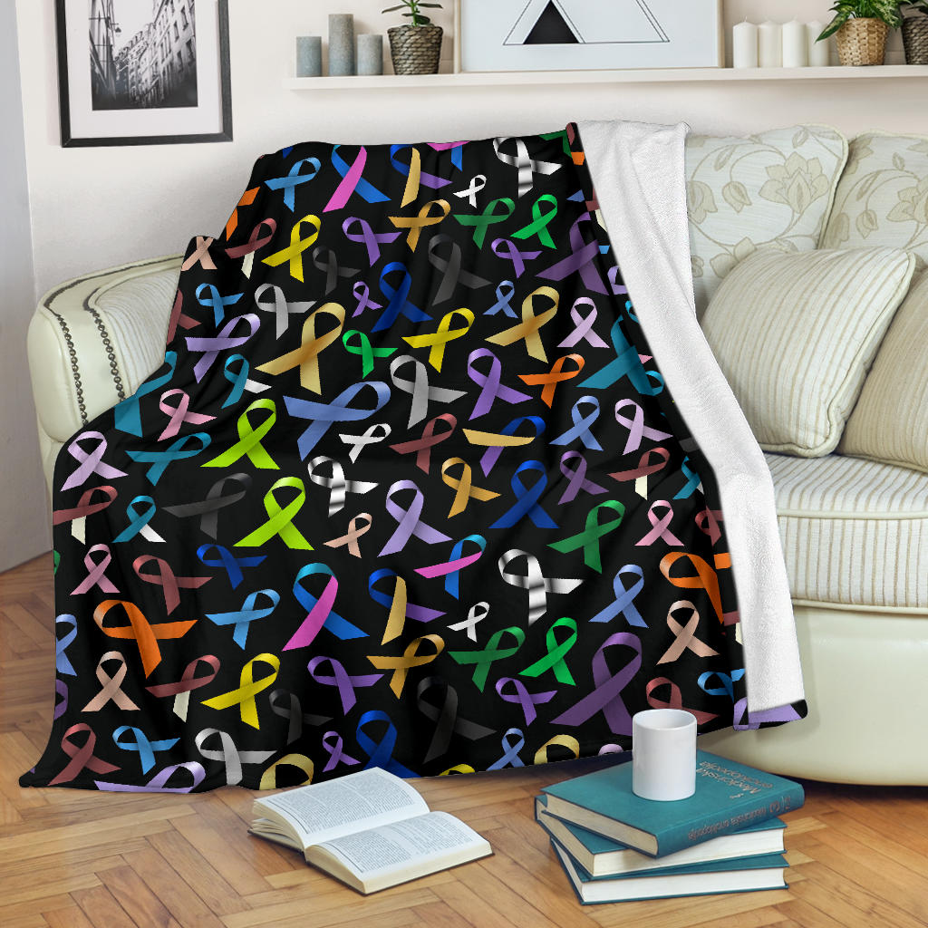 Cancer Awareness Ribbons Color Premium Blanket