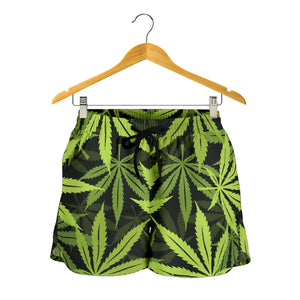 Cannabis Marijuana Weed Floral Women's Shorts