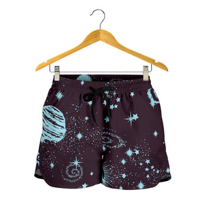 Vintage Space Galaxy Women's Shorts