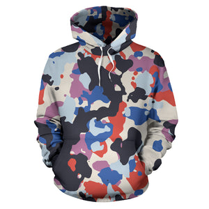 Camouflage Colorful Camo Urban All Over Hoodie