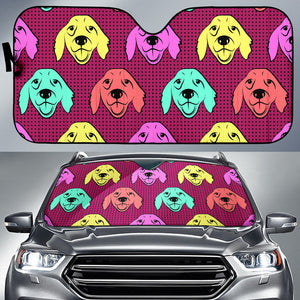 Color Labrador Retriever Car Sun Shade
