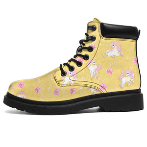 Yellow Unicorn Fantsatic Flowers Boots