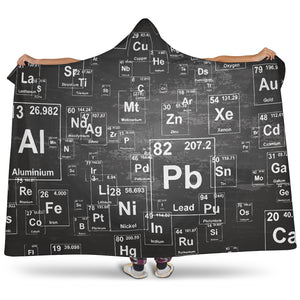 Chemistry Periodic Table Hooded Blanket