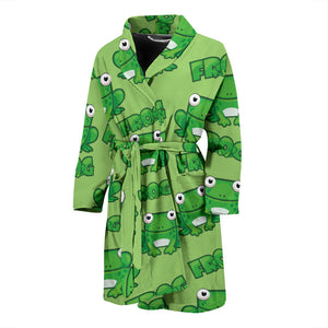 Square Green Frog Men's Bath Robe