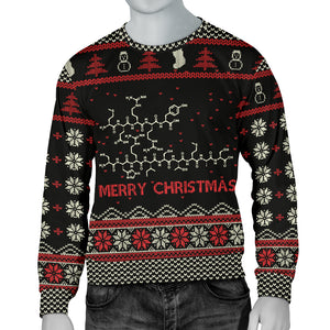 Ugly Christmas Peptide Men's Sweatshirt