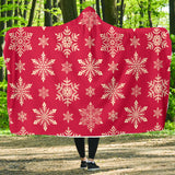 Red Snowflake Hooded Blanket