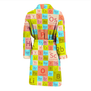 Chemistry Periodic Table Colorful Men's Bath Robe