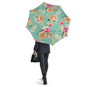 Floral Vintage Bright Colors Umbrellas