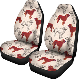 Red Irish Red Setter Pattern Car Seat Covers