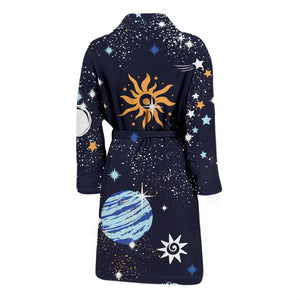 Space Galaxy Constellation Men's Bath Robe