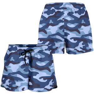 Camouflage Blue Camo Urban Women's Shorts