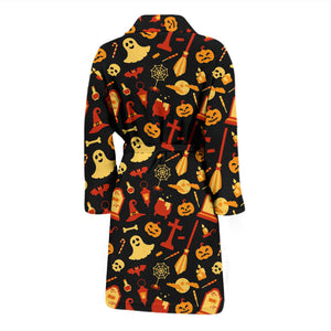 Dark Halloween Cute Men's Bath Robe