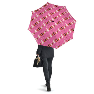 Pink Irish Dogs Umbrellas