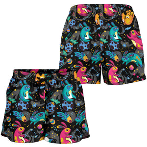 Dark Childish Kids Pattern Women's Shorts