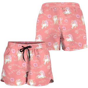 Pink Unicorn Fantastic Women's Shorts