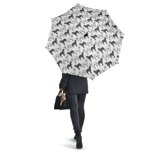 White Irish Setter Pattern Umbrellas