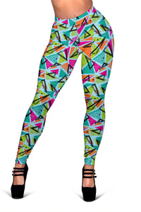Colorful Abstract Geomatric Pattern Women's Leggings