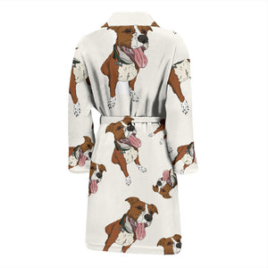Pitbull Brown Vanilla Men's Bath Robe
