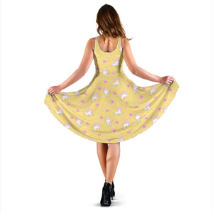 Yellow Unicorn Fantsatic Flowers Dress