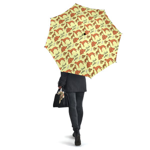 Yellow Irish Red Setter Umbrellas