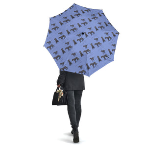 Blue Dog Irish Wolfhound Umbrellas
