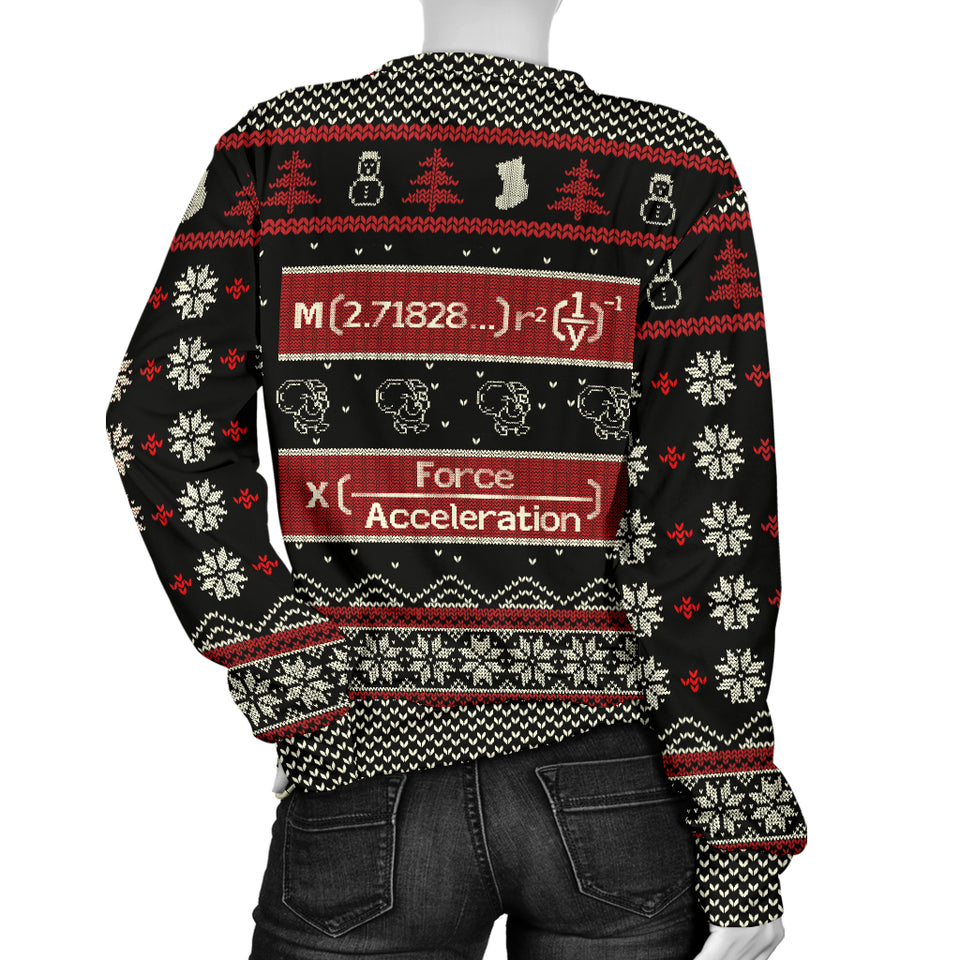 Mathematics Merry X'Mas Women's Sweater