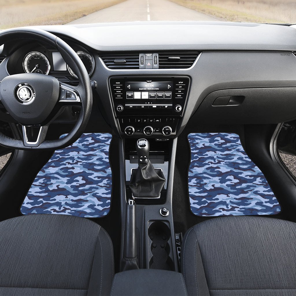 Camouflage Blue Camo Urban Front Car Mats (Set Of 2